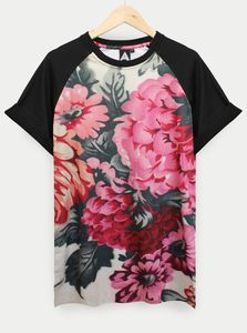 AND.ALSO Floral Sleeve Tee