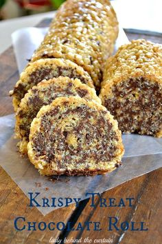 Making a candy bar just got super easy!  This krispy treat chocolate roll also has peanut butter which makes it taste like a candy bar.  a wonderful way to