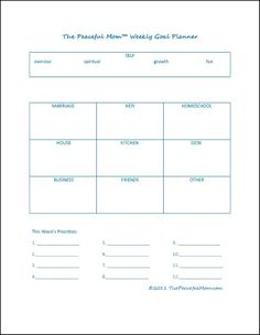 Get organized with this FREE printable Weekly Goal Planner!