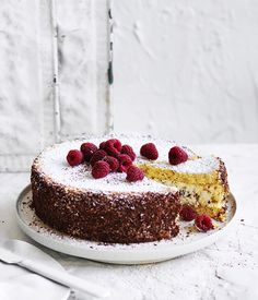 Cassata recipe - For sponge cake, preheat oven to and butter a cake tin and a x Swiss roll tin and line each with baking paper. Whisk eggs, sugar and a pinch of salt Italian Cassata Cake Recipe, All You Need Is, Just Desserts, Dessert Recipes, Cupcake Recipes, Italian Cake, Italian Desserts, Italian Dishes, Recipes