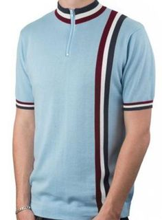 Art Gallery Clothing Alfie Mod Style Cycling Top Sky Blue 60s Men's Fashion, Mens Fashion Shoes, Cycling Tops, Polo T Shirts, Vintage Shirts, Art Gallery, Menswear, Mod Clothing, Mens Tops