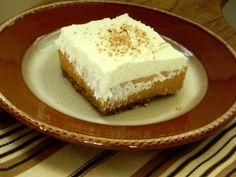 Gluten Free Pumpkin Icebox Pie with Pecan Gingersnap Crust