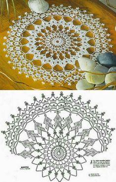 Free Crochet Doily Patterns, Crochet Doily Diagram, Crochet Art, Thread Crochet, Crochet Crafts, Crochet Designs, Crochet Stitches, Crochet Dollies, Crochet Decoration