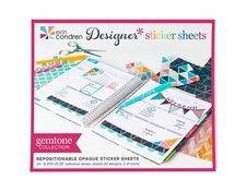 designer sticker sheets - gemtone