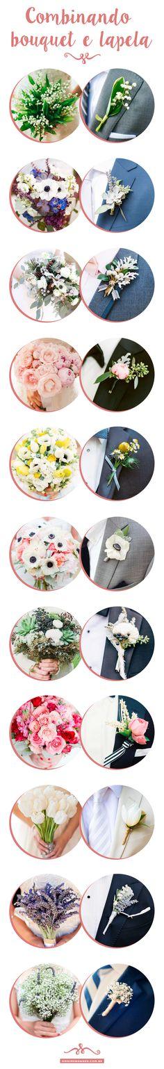 Combinando bouquet da Noiva e a flor de lapela. - Dicas do blog OMG I'm Engaged omgimengaged.com.br { post by www.mariarossetti.com.br }