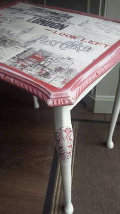 Handmade vintage london side table by restoredwithlove4u on Etsy