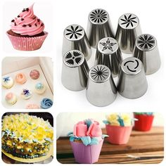 Yakamoz 8 Pieces Russian Icing Piping Nozzles Pastry Tips Cake Sugarcraft Decorating Tool Kit -- Insider's special review that you can't miss. Read more :  : Baking tools