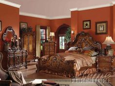 Dresden Cherry Oak 5Pc Eastern King Bedroom Set 12137Ek-S By Acme furniture