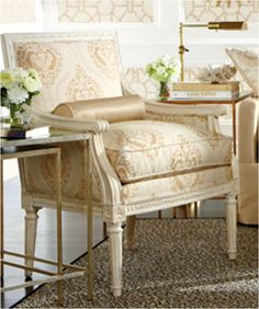 Ethan Allen Living Rooms. The Gisele Chair.