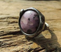 Purple Agate Ring Statement Ring Cocktail Ring Stone by MARIAELA, $37.00