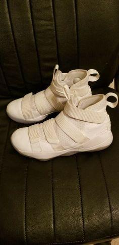 new concept b8293 878c2 Nike Lebron Soldier XI Men Size 8 Basketball White Platinum 897644 103   fashion  clothing
