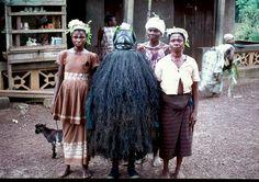 Sierra Leone I 1968 - 1970: A Su Gande Carved Bondo Mask - Dama Rd in Kenema