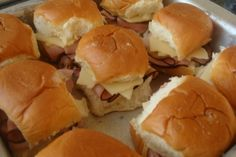 Yummy Hawaiian sweet roll sandwiches