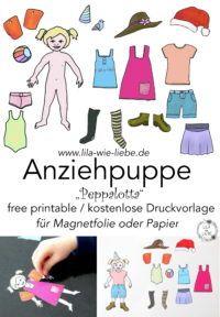 Anziehpuppe Kostenlose Druckvorlage Kostenlose Druckvorlagen Magnetfolie Lila Wie Liebe