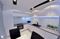 Mieszkanie Gdańsk - 48m2 - 2014 - Średnia kuchnia w kształcie litery l, styl nowoczesny - zdjęcie od Studio86