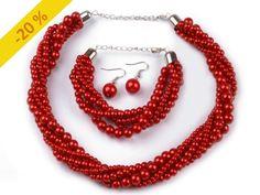 Náhrdelník, náramek a náušnice z voskovaných perel 2. jakost