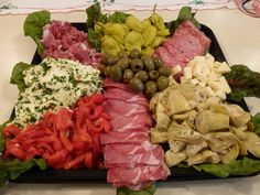 platters of food | an antipasto platter is a great dish to share at a new year s eve ...