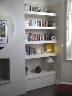 floating shelves on hidden fixings