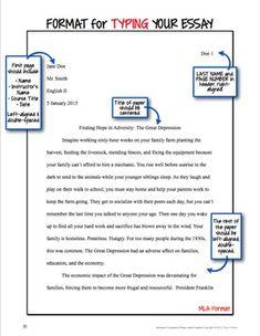 mla format informative essay