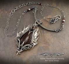 Fine Silver w/ Diamond & Garnet by Daryl Adams  - featured on Jewelry Making Journal