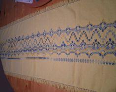 Pastel Yellow Swedish Weave Table Runner