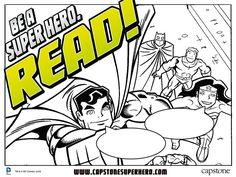 """Be a Super Hero. Read!"" Activity Sheets 