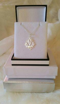 collier argent fleur de lotus lasso sur amazone