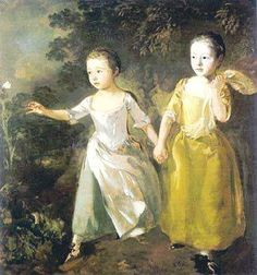 "Painting by Thomas Gainsborough)  ""Afflictions quicken our pace on the way to heaven. It is with us as with children sent on an errand. If they meet with apples or flowers by the way, they linger and are in no great hurry to get home, but if anything frightens them, then they run with all the speed they can to their father's house."" - Thomas Watson (323×345)"