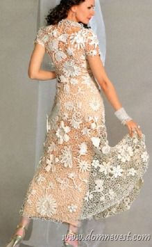 1000 images about crochet wedding dress on pinterest for Crochet lace wedding dress pattern