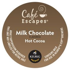 Café Escapes Chai Latte, K-Cup Portion Pack for Keurig Brewers, Cocoa, Milk Cafe, Green Mountain Coffee, Portion, Coffee Service, K Cups, Coffee Pods, Chocolate Flavors, Keurig