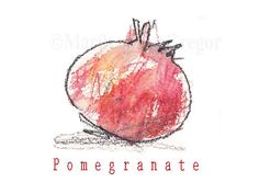 Pomegranate Print. $15,00, via Etsy.