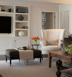 sean-anderson-love this white built in wall unit for the tv and shelves
