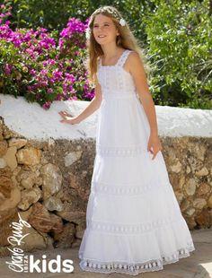 Vestidos de Comunión originales, con aire fresco y muy versátiles para que las más pequeñas luzcan perfectas, encantadoras y...