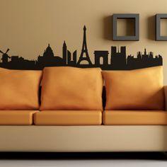 Adesivi murali parigi skyline