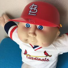 St. Louis Cardinals Vintage 1980s CPK Cabbage Patch Kid Doll #CabbagePatchKids #DollswithClothingAccessories