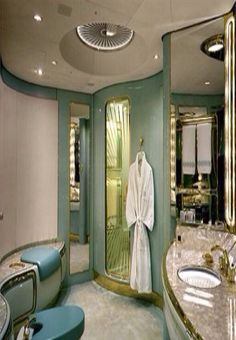 Luxury bathroom in a private jet