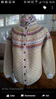 Røverkofta pattern by Kristin Wiola Ødegård Knit Patterns, Ravelry, Men Sweater, Turtle Neck, Buttons, Knitting, Crochet, Sweaters, Design