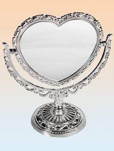 Heart standing mirror