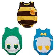 3pcs Newborn Baby Clothing Summer Sleeveless Baby Boys Girls Bodysuits 36 Months YellowGreenBlue -- You can find out more details at the link of the image.Note:It is affiliate link to Amazon. #likes