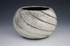 Wheel thrown Hand carved Raku pot by melodiegrace on Etsy, $234.00