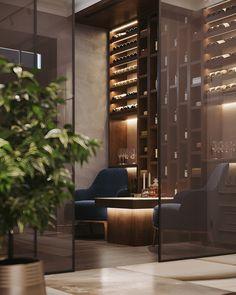 Wine-cigar room on Behance