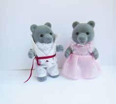 Sylvanian Families Bear Couple 1980s Toy