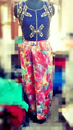 Floral skirt with silk jacket  https://m.facebook.com/takshaty