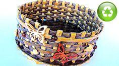 Hoy te muestro cómo hacer una cesta hecha con papel con la base tejida, es muy fácil de hacer y decora muchisimo! Para que te orientes en cuanto a medidas y ...