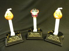 pez trophies oh yeah i love this cute and simple idea halloween costume contesthalloween - Halloween Contest Prizes