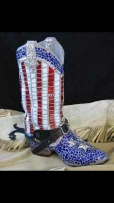 Mosaic cowboy boots
