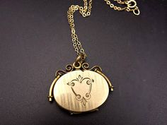 Your place to buy and sell all things handmade Gold Locket, Locket Necklace, Antique Locket, Antique Gold, Victorian Gold, Tiny Treasures, Gold Filled Chain, Lockets, Jewelry Making