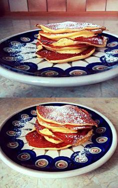 Vanilla fromage frais pancakes