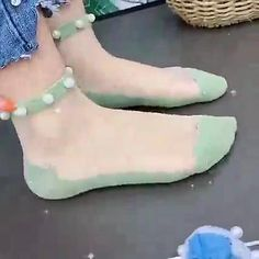 In summer, these socks are so beautiful with sandals and skirts.It's genius to putting it in a gift box as a gift like a rose.🎁🎁 Socks, Hue, Sandals, Summer, Pearls, Gifts, My Style, Lady, Womens Fashion