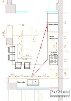 Modern Kitchen Interiors, Luxury Kitchen Design, Kitchen Room Design, Interior Design Kitchen, Best Kitchen Layout, Kitchen Layout Plans, Small Kitchen Floor Plans, Restaurant Plan, Kitchen Measurements